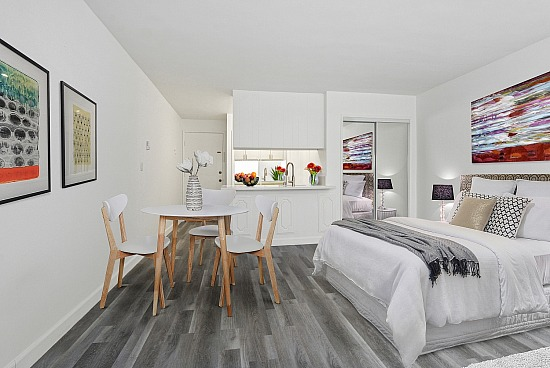 virtual staging - 1417 Veteran Ave Units 201 203 303